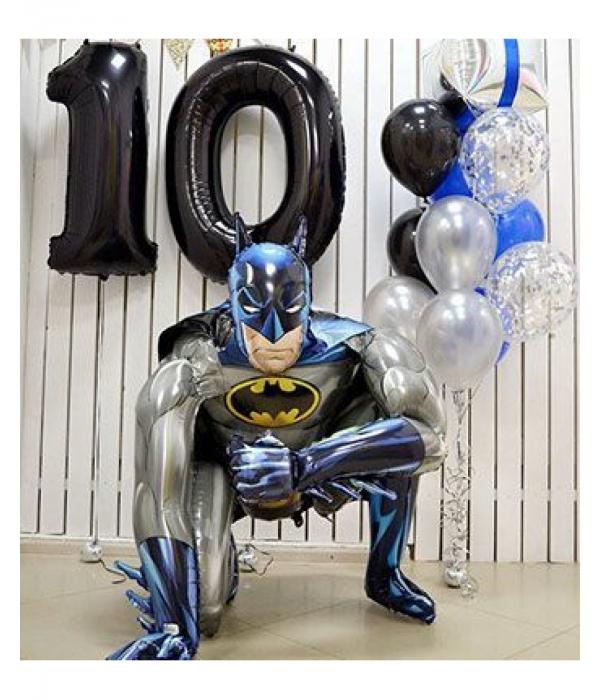 Заказать композиция из шаров Бэтмен мальчику на 10 лет