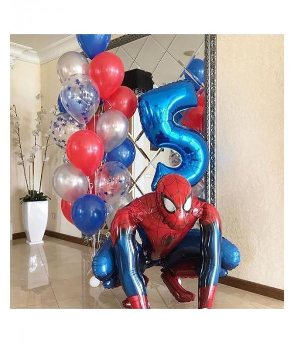 Заказать украшение шарами Человек Паук ребенку на 5 лет