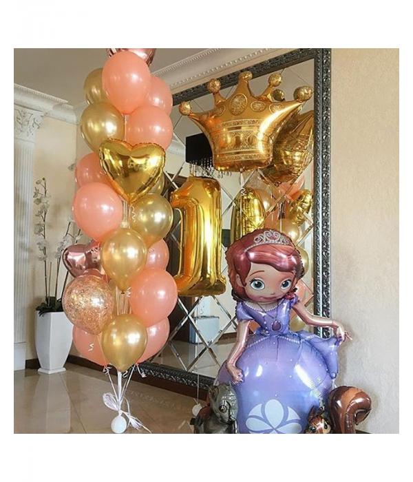 Заказать композиция из шаров Принцесса София с доставкой