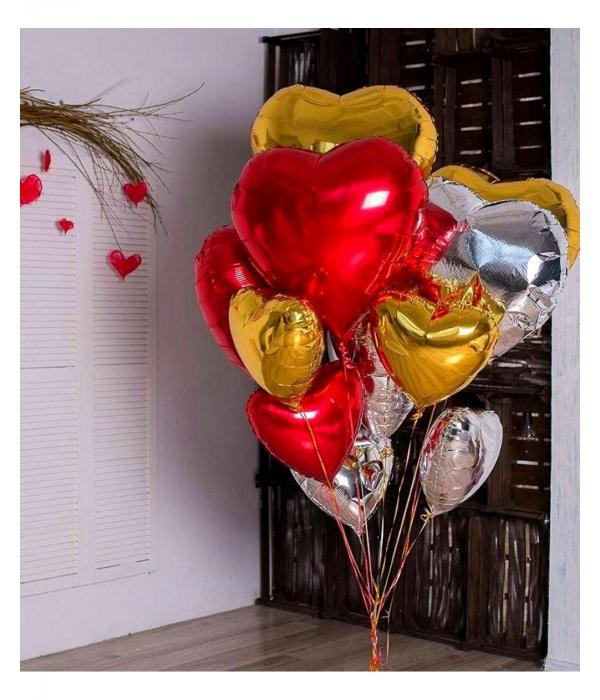 Фольгированный шар сердце 81 см
