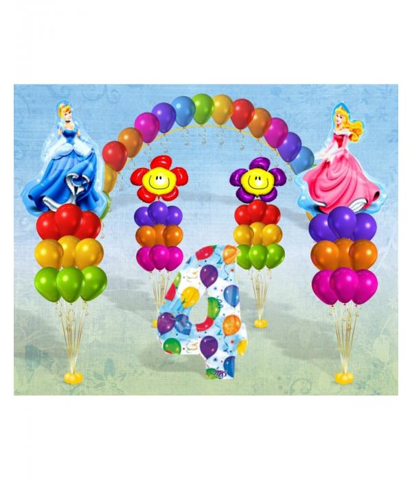 Украшение шарами дня рождения девочки