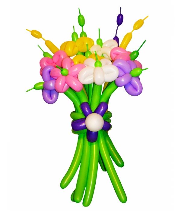 Цветы из шаров купить в Москве недорого