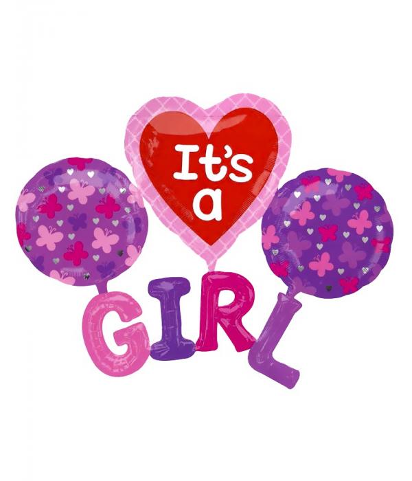 Набор фольгированных шаров GIRL