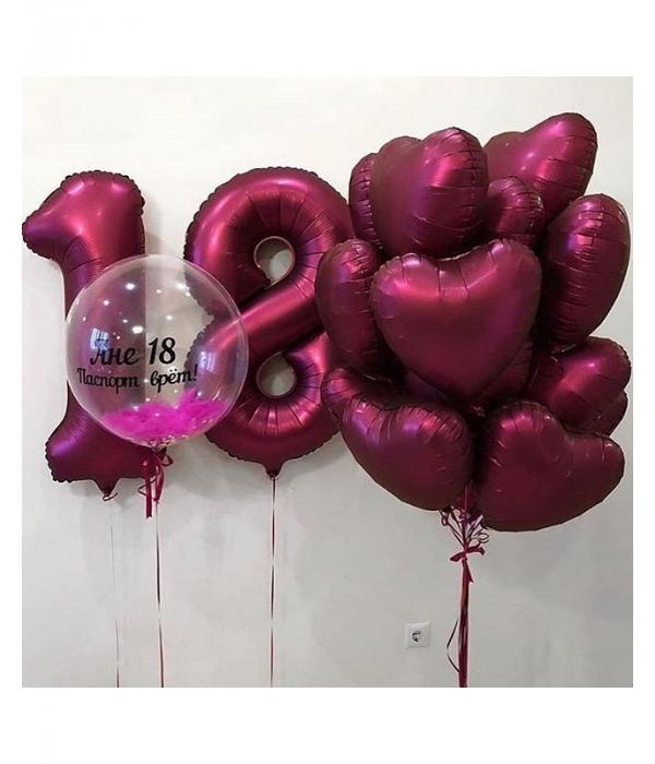 Украшение шарами на день рождения девушке на 18 лет