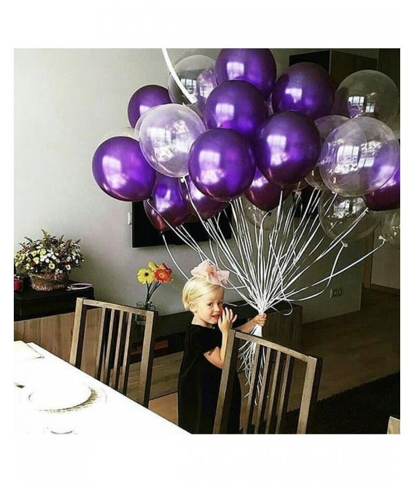 Фиолетовые шары с гелием