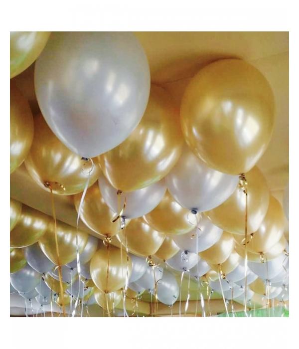 Золотые воздушные шары