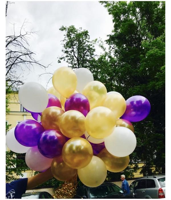 Фиолетовые воздушные шары с гелием