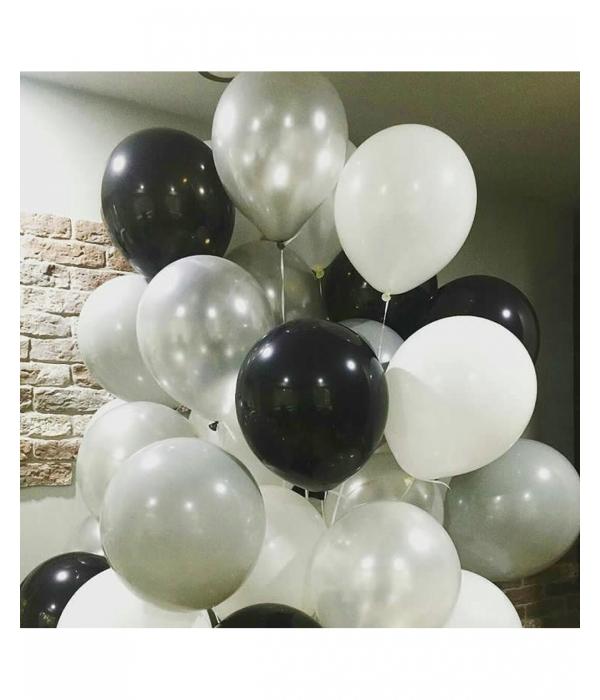 Черные воздушные шары с гелием