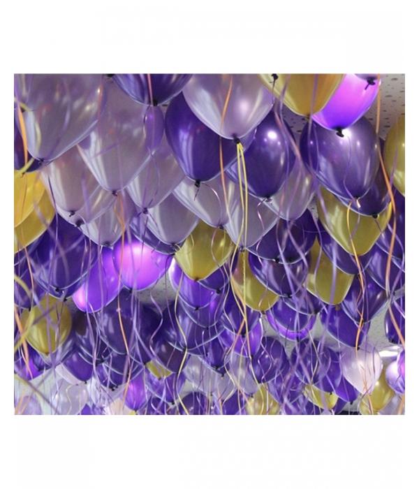 Сиреневые воздушные шары с гелием