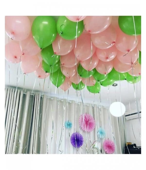 Микс из зеленных и розовых шариков