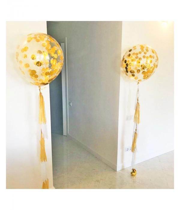 Большие прозрачные шары 60 см с конфетти внутри