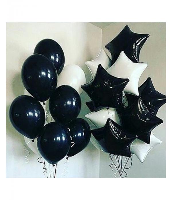 Купить украшение черными шарами