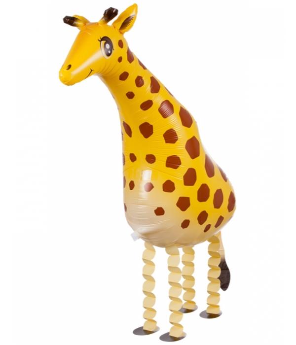 Ходячий шар Жираф с гелием