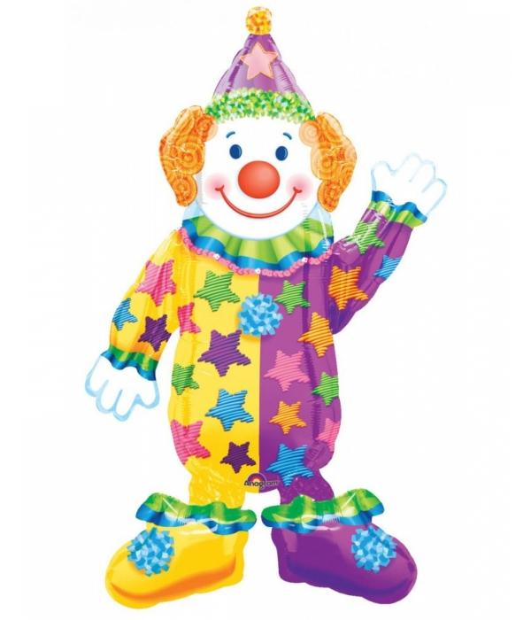 Ходячий воздушный шар Клоун с гелием