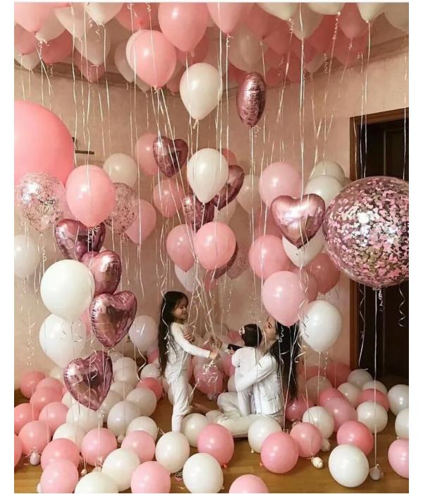 Заказать украшение шарами на день рождения Пинки+