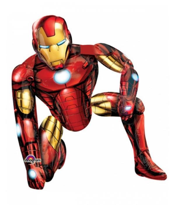 Ходячий шар Железный человек с гелием