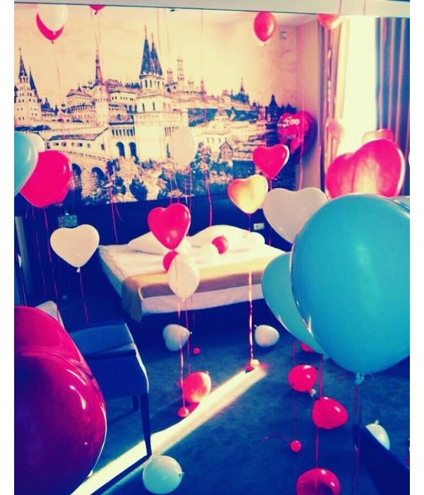 Воздушные шары сердечки