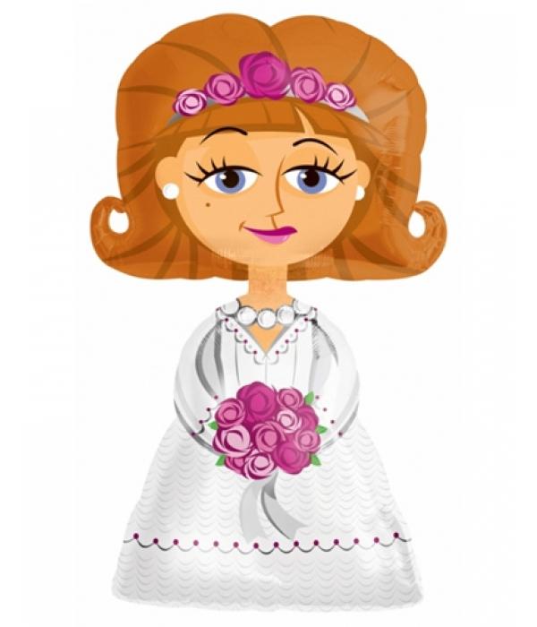 Фольгированный ходячий шар Невеста