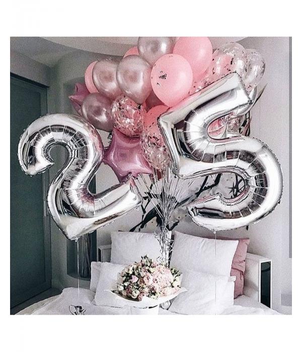Купить композицию из шаров на день рождения девушке