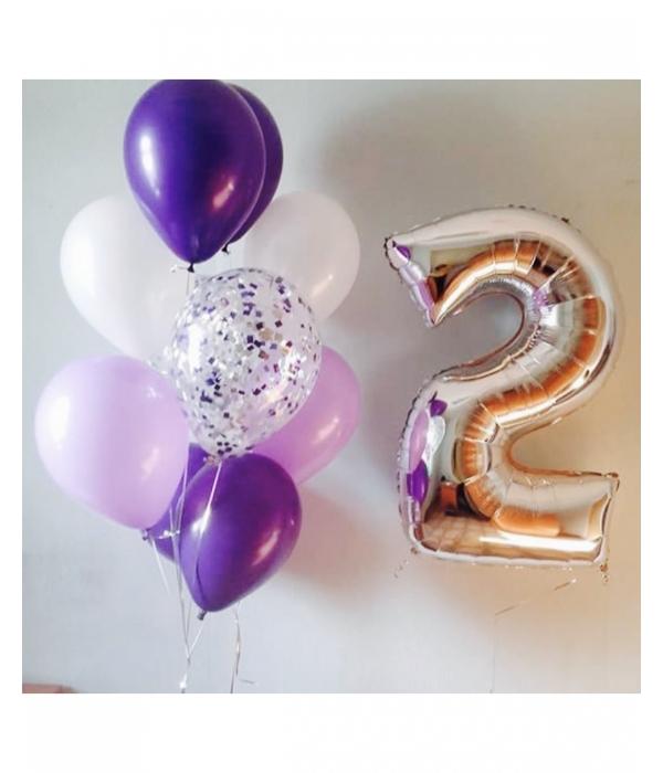Заказать букет из шаров с цифрой