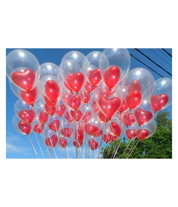 """Воздушные шары """"В сердцах"""""""