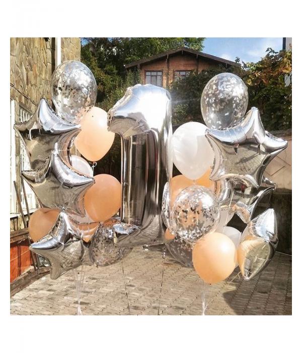Первый день рождения, оформление воздушными шарами