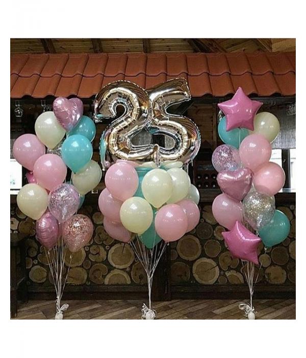 Воздушные шары на 25 лет