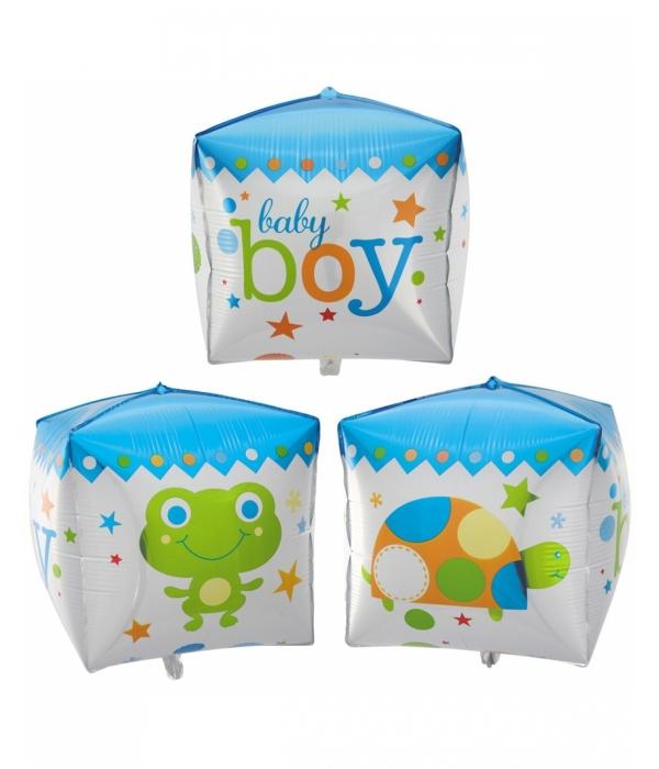 """Фольгированный шар """"Куб мальчик"""""""