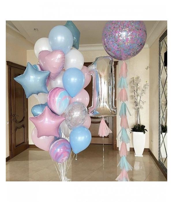 """Воздушные шары на годик """"Годовасие"""""""