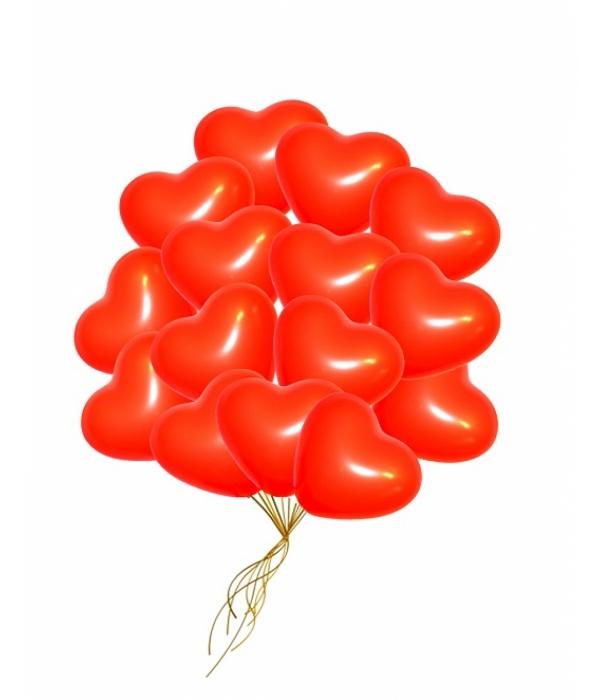 """Воздушные шары """"Сердца красные"""""""