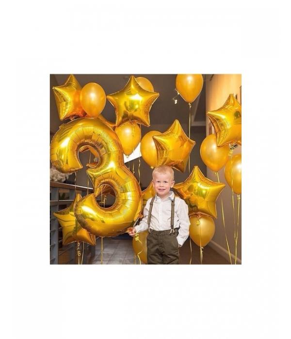 Композиция из золотых шаров Золотая молодежь