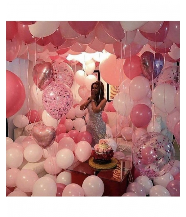 Оформление дня рождения девушки шарами