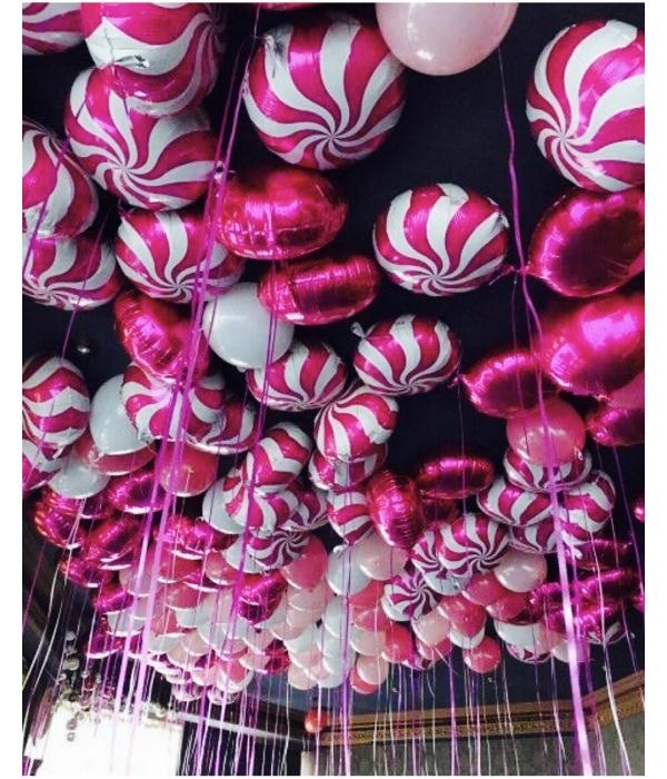 """Композиция из шаров """"Розовые карамельки"""""""