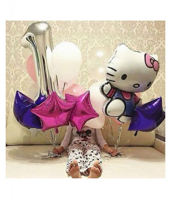 Заказать композиция из шаров Hello Kitty