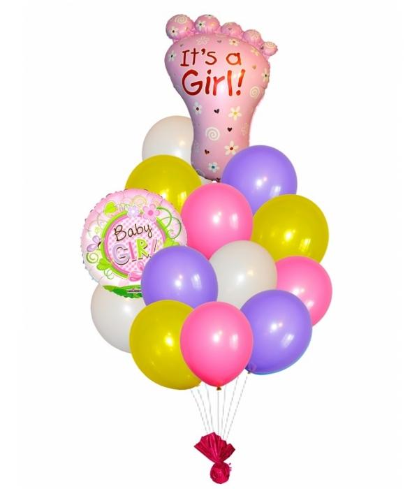 Букет из шаров на выписку