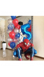 """Композиция из шаров """"Человек паук"""""""