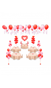 Микс свадебных шаров №10