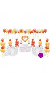 Микс свадебных шаров №17