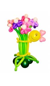 """Цветы из шаров """"Дама"""""""