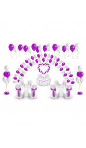 Микс свадебных шаров №4