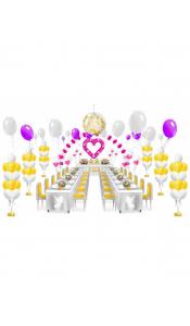 Микс свадебных шаров №8