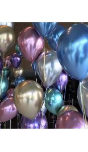 Заказать воздушные  шары Хром с доставкой
