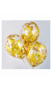Купить шары под потолок с конфетти различной формы и цвета