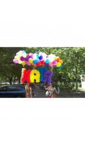 Плетенная буква из воздушных шаров