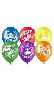 """Воздушные шары """"Супер мама"""""""