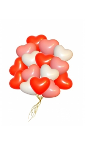 """Воздушные шары """"Сердца микс"""""""