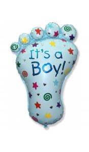 """Фольгированный шар """"Ступня мальчик"""""""