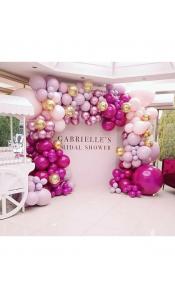 Разнокалиберная арка из воздушных шаров
